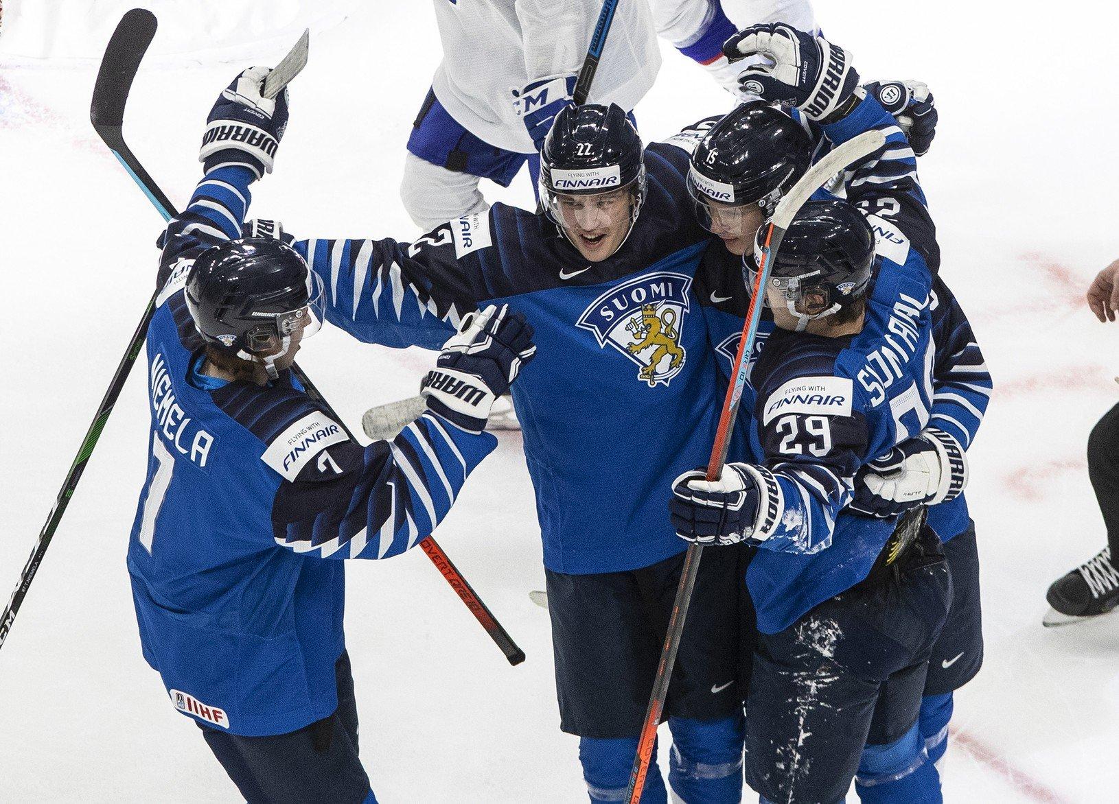Fínsky hráči sa radujú