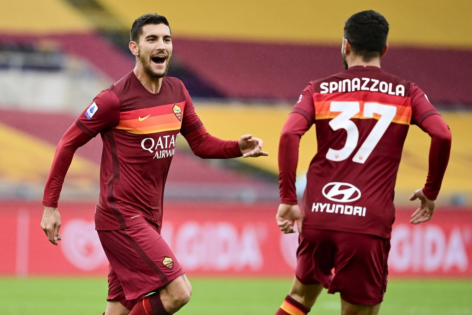 Lorenzo Pellegrini oslavuje gól