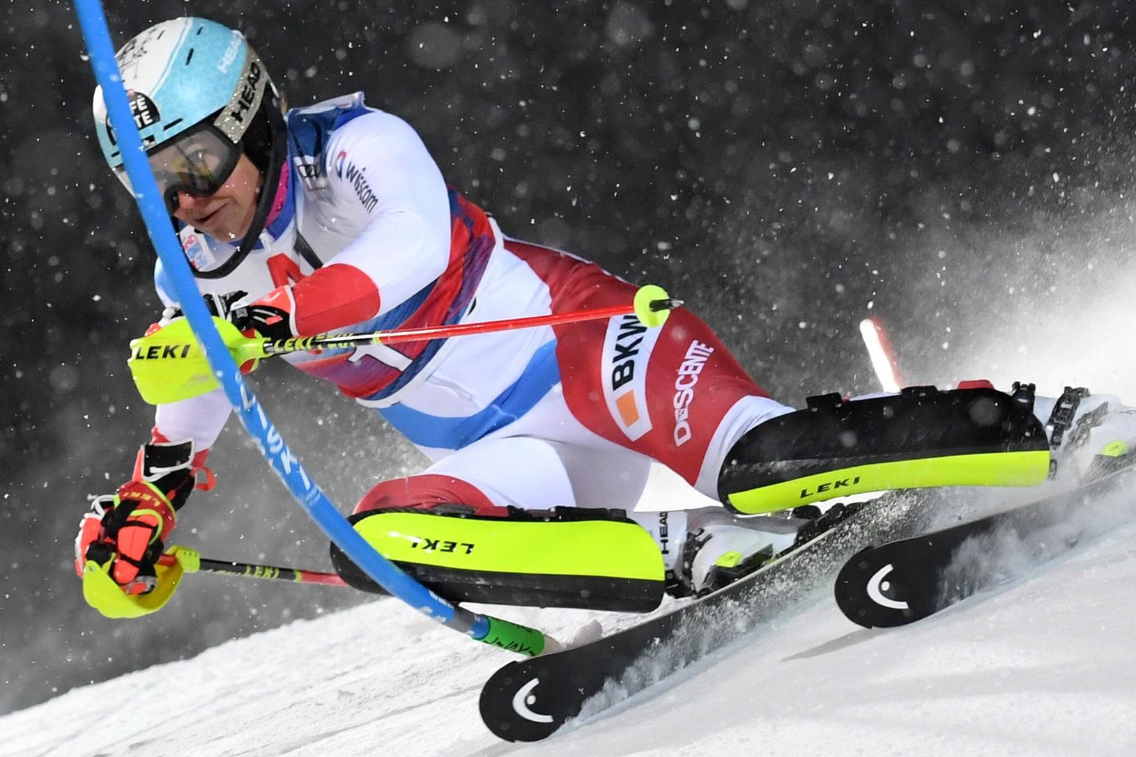 Švajčiarska lyžiarka Wendy Holdenerová