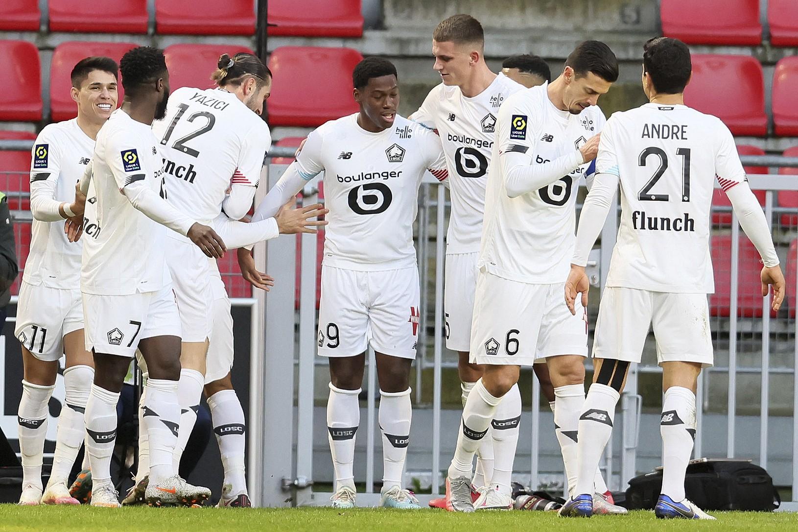 Radosť futbalistov Lille