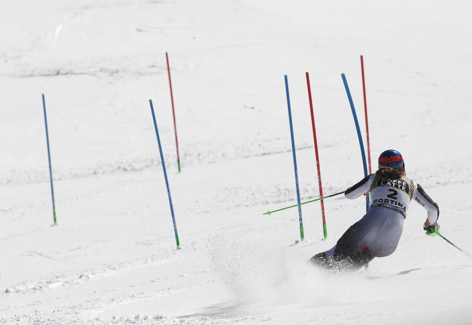 Petra Vlhová počas slalomu