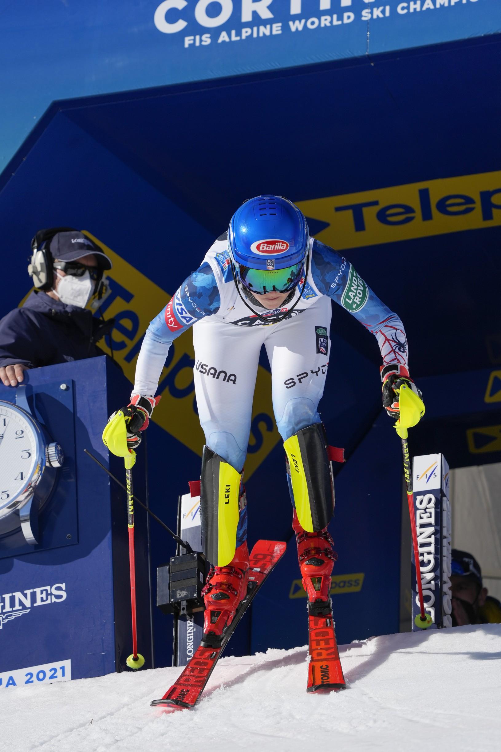 Mikaela Shiffrinová počas slalomu