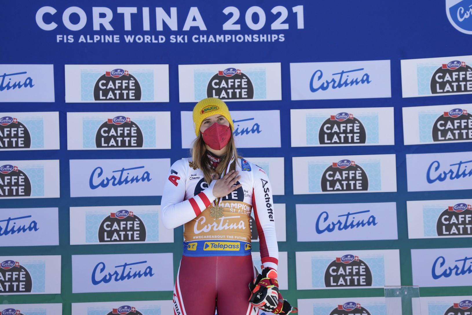 Katharina Liensbergerová so zlatou