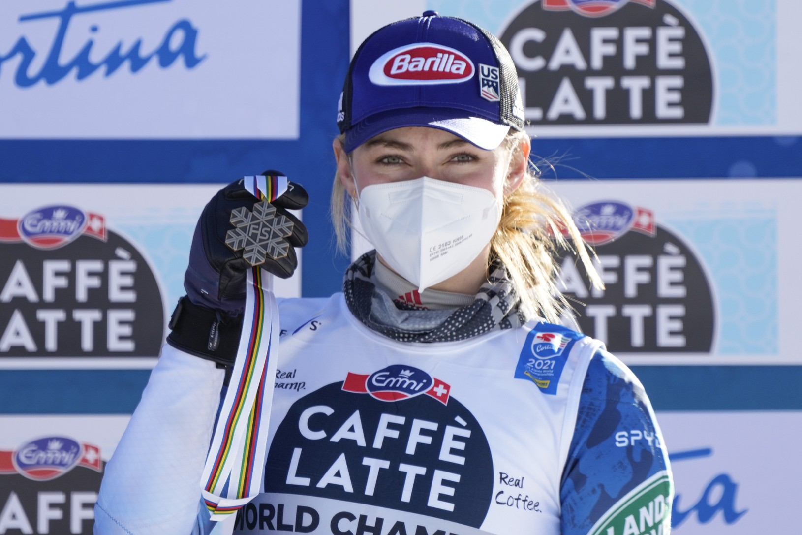 Mikaela Shiffrinová s bronzovou