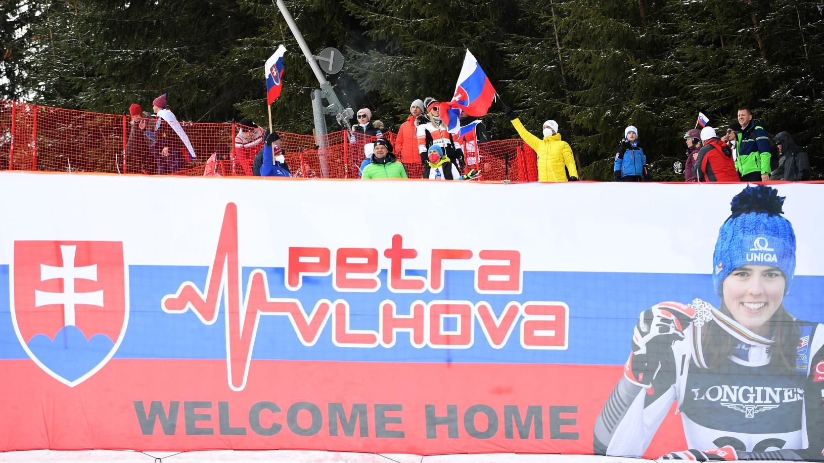Fanúšikovia slovenskej lyžiarky Petry