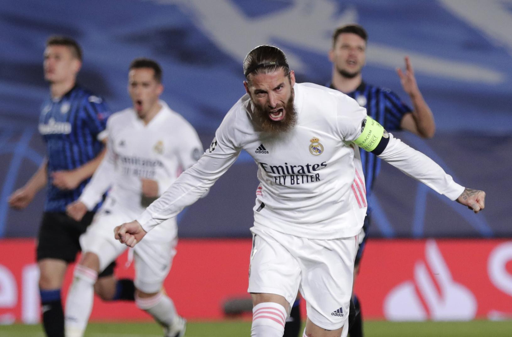 Sergio Ramos pri oslave