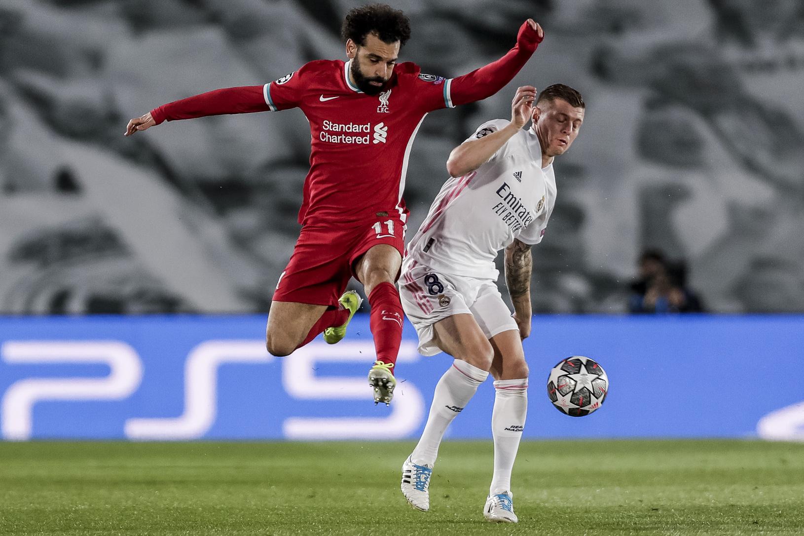Mohamed Salah (vľavo) v