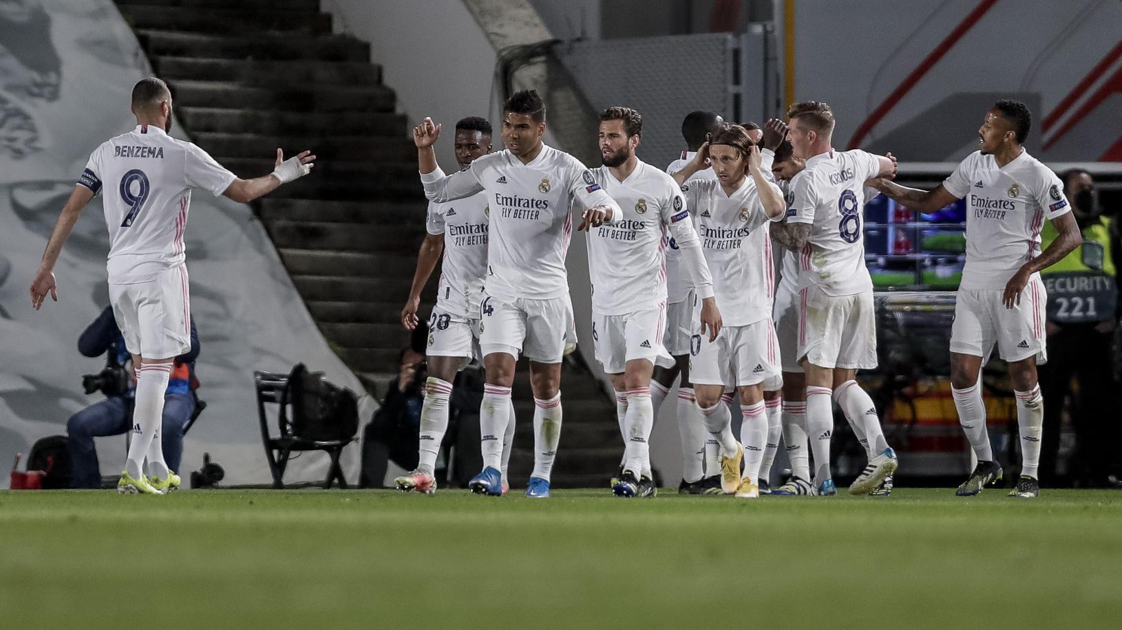 Hráči Realu Madrid oslavujú