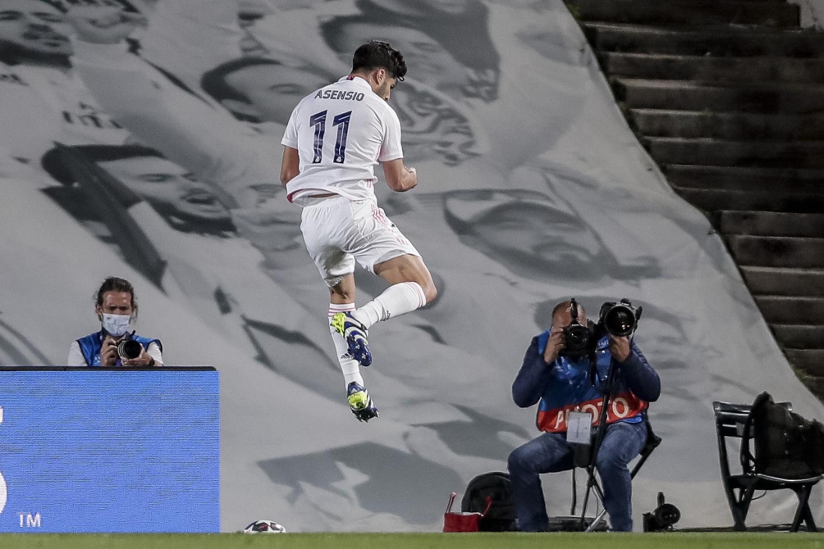 Marco Asensio oslavuje gól