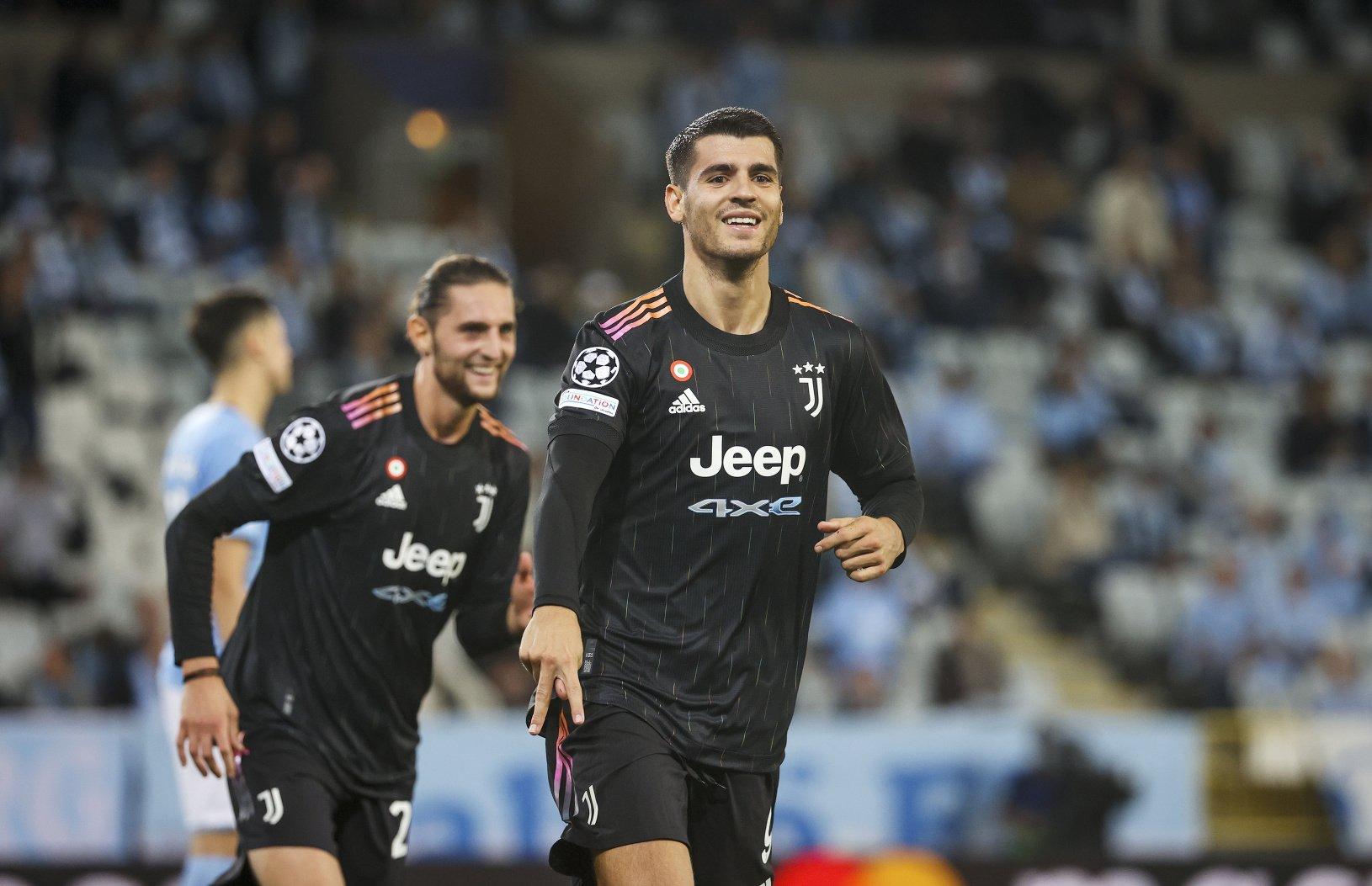 Alvaro Morata oslavuje gól