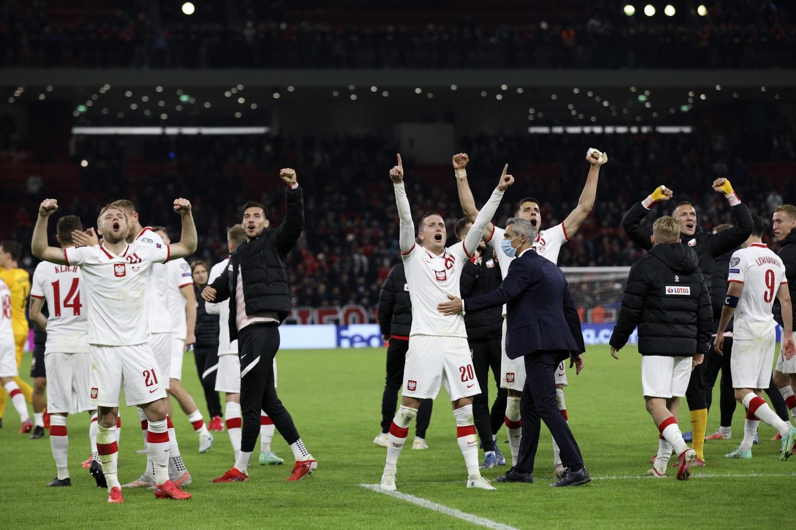 Radosť hráčov Poľska po