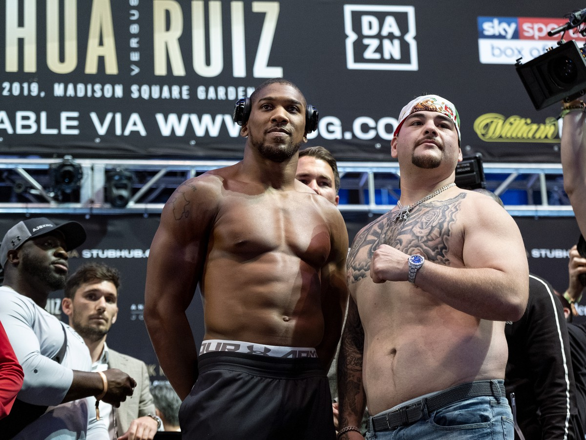 Anthony Joshua a Andy Ruiz Jr.