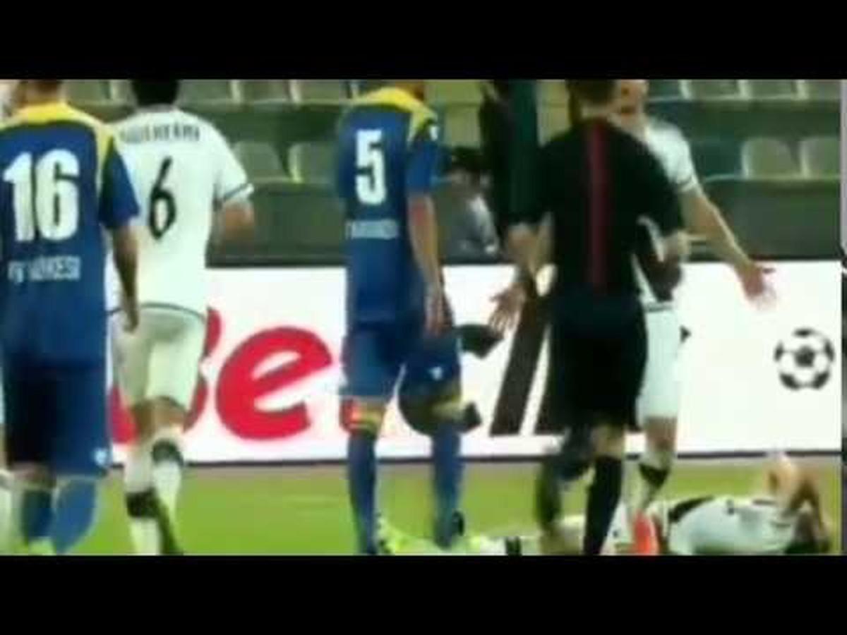 VIDEO Škandál na zápase Európskej ligy: Dudu trafil do hlavy nebezpečný predmet!