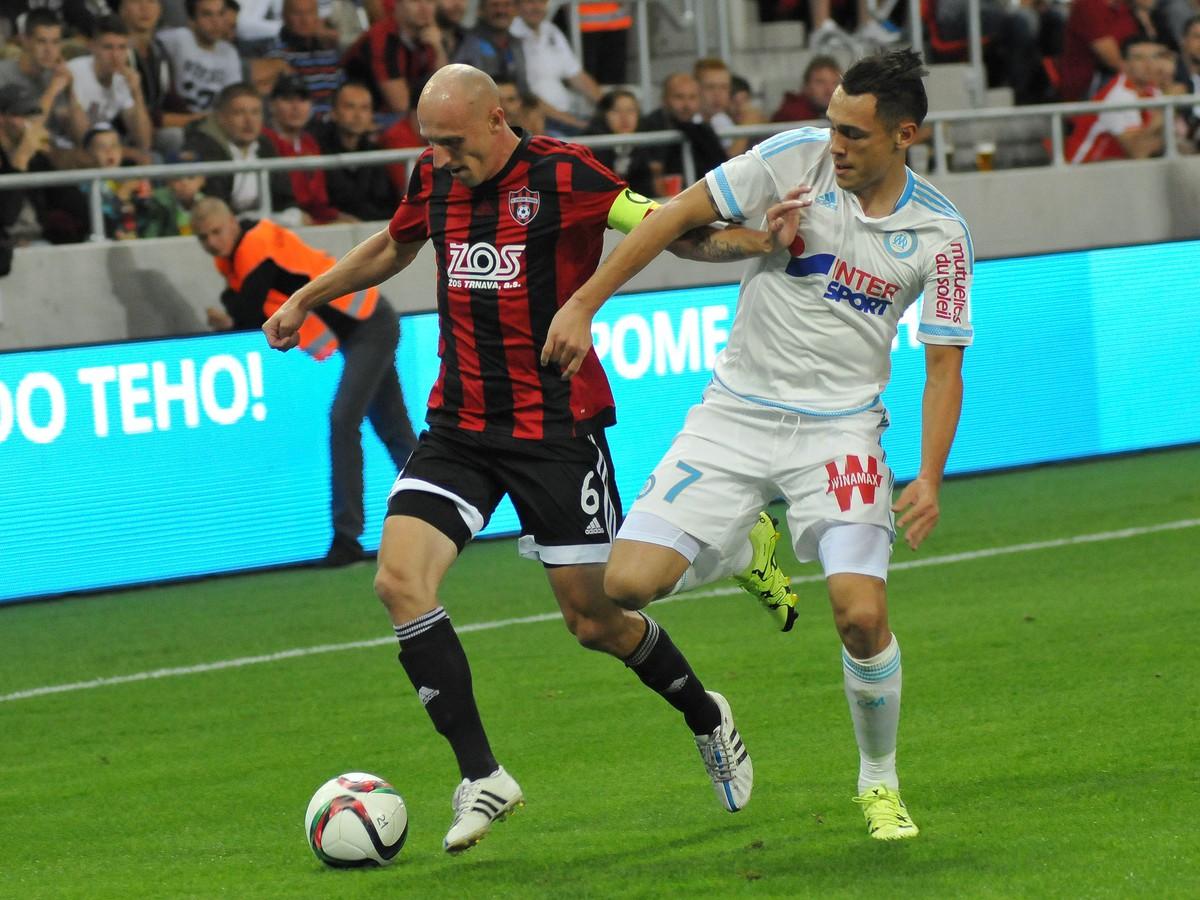 Spartak pred zaplnenou City Arenou nestačil na slávny Olympique Marseille