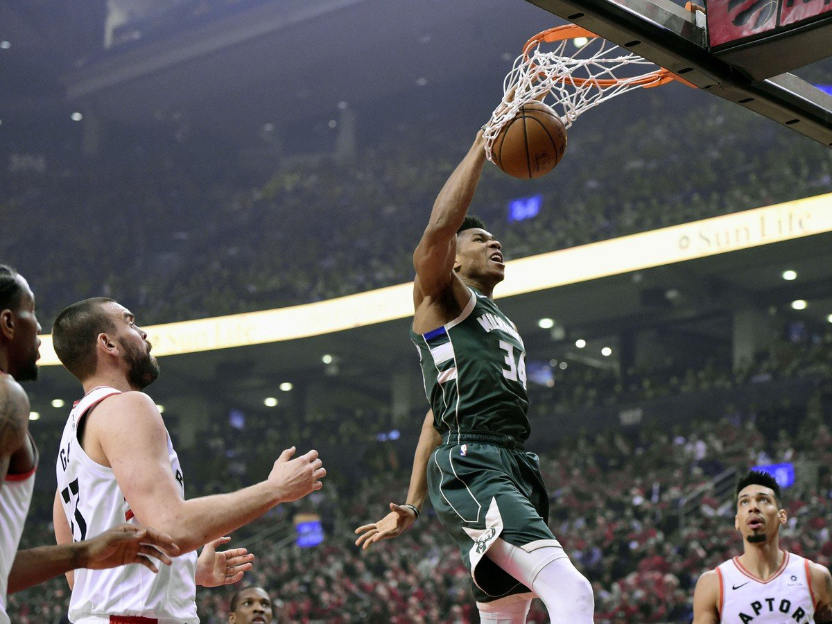 Hráč Milwaukee Bucks Giannis Antetokounmpo