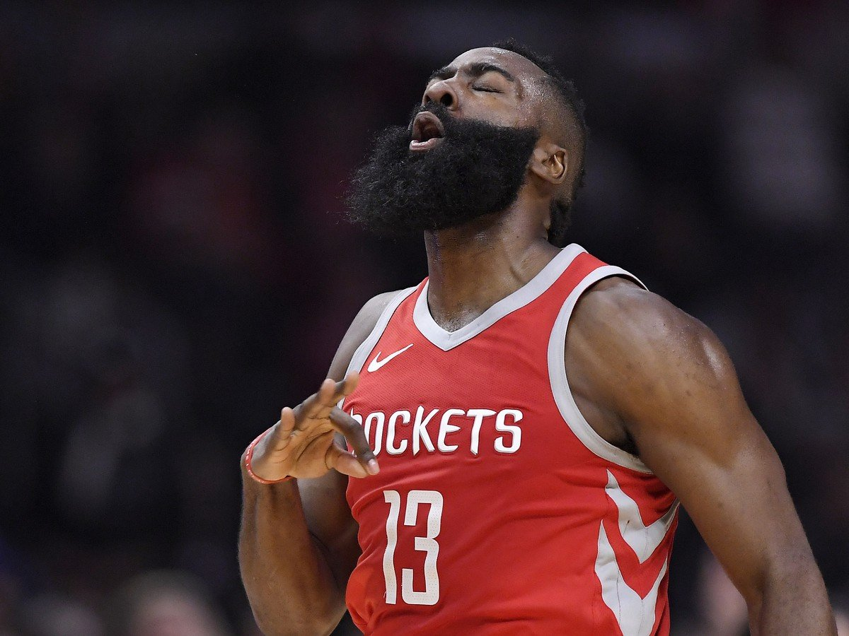 Hráč Houstonu Rockets James Harden