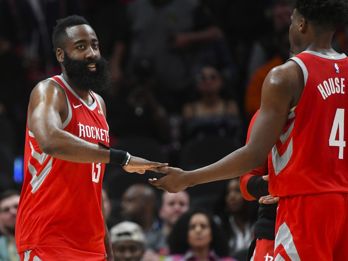 Hráč Houstonu James Harden