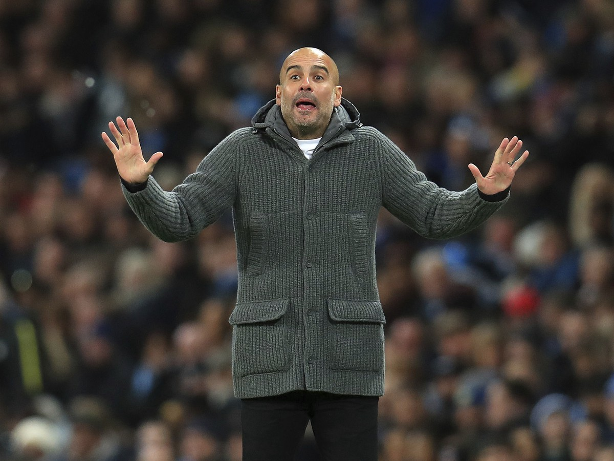 Tréner City Pep Guardiola