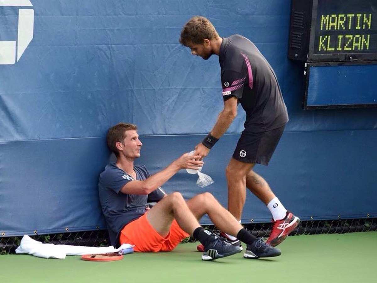 FOTO Obrovské gesto Kližana na US Open: Takto prejavil spolupatričnosť trápiacemu sa súperovi