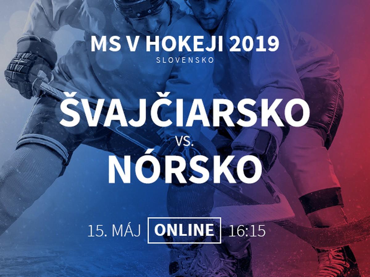 94806851258cd Švajčiarsko - Nórsko: Online prenos z MS v hokeji 2019 | Športky.sk