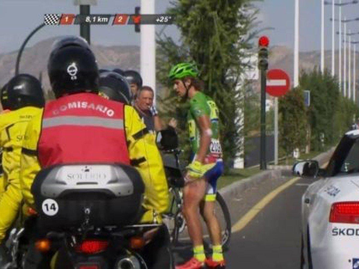 VIDEO Smolná etapa pre Sagana: O šancu na víťazstvo ho tesne pred koncom obrala motorka!