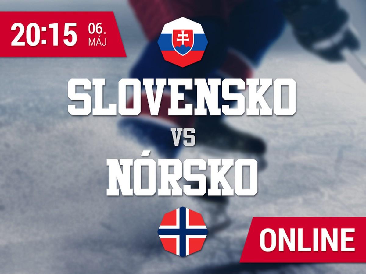 Slovensko - Nórsko: Online prenos z MS v hokeji