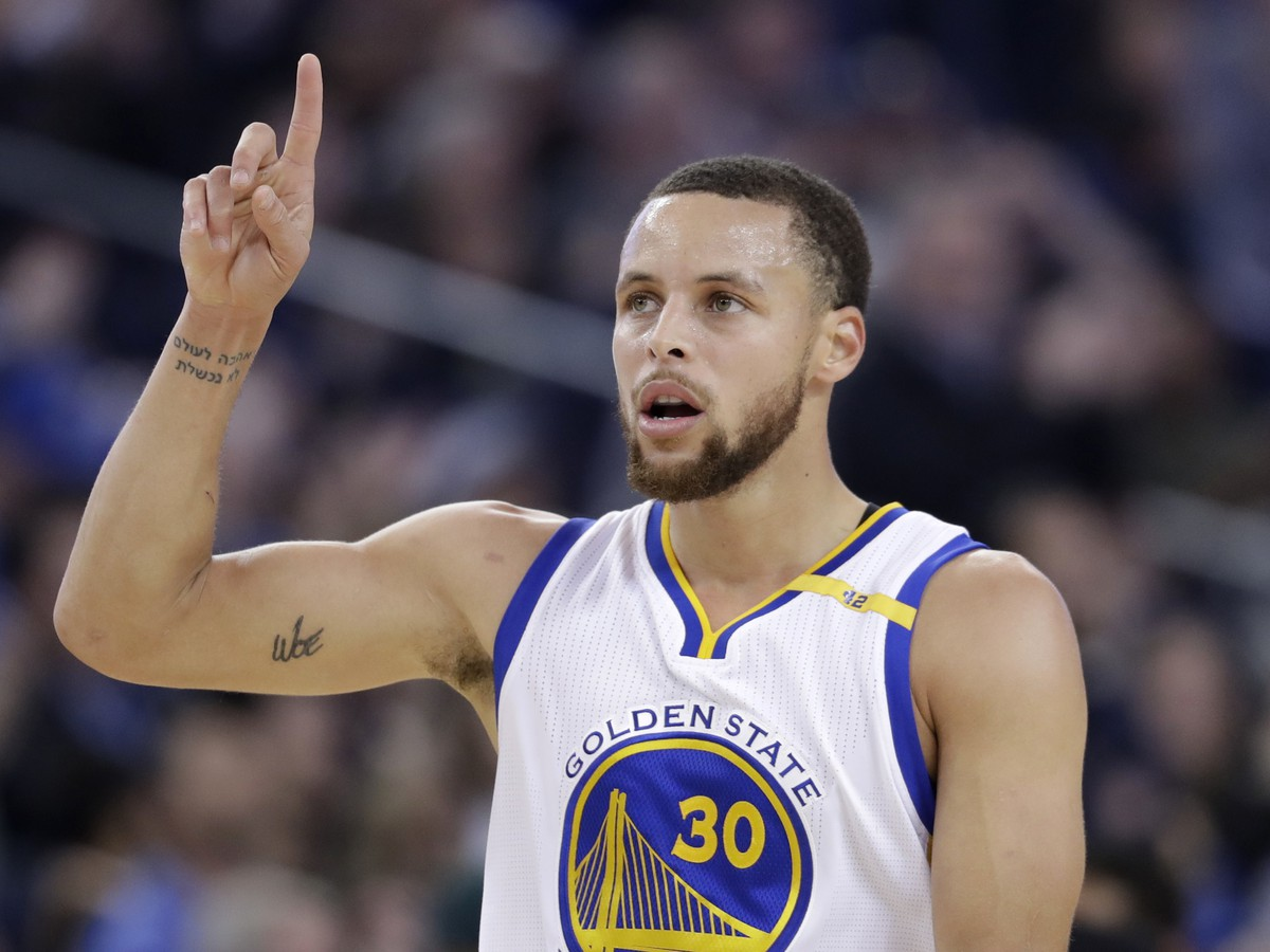 Hráč Goldenu State Warriors Stephen Curry