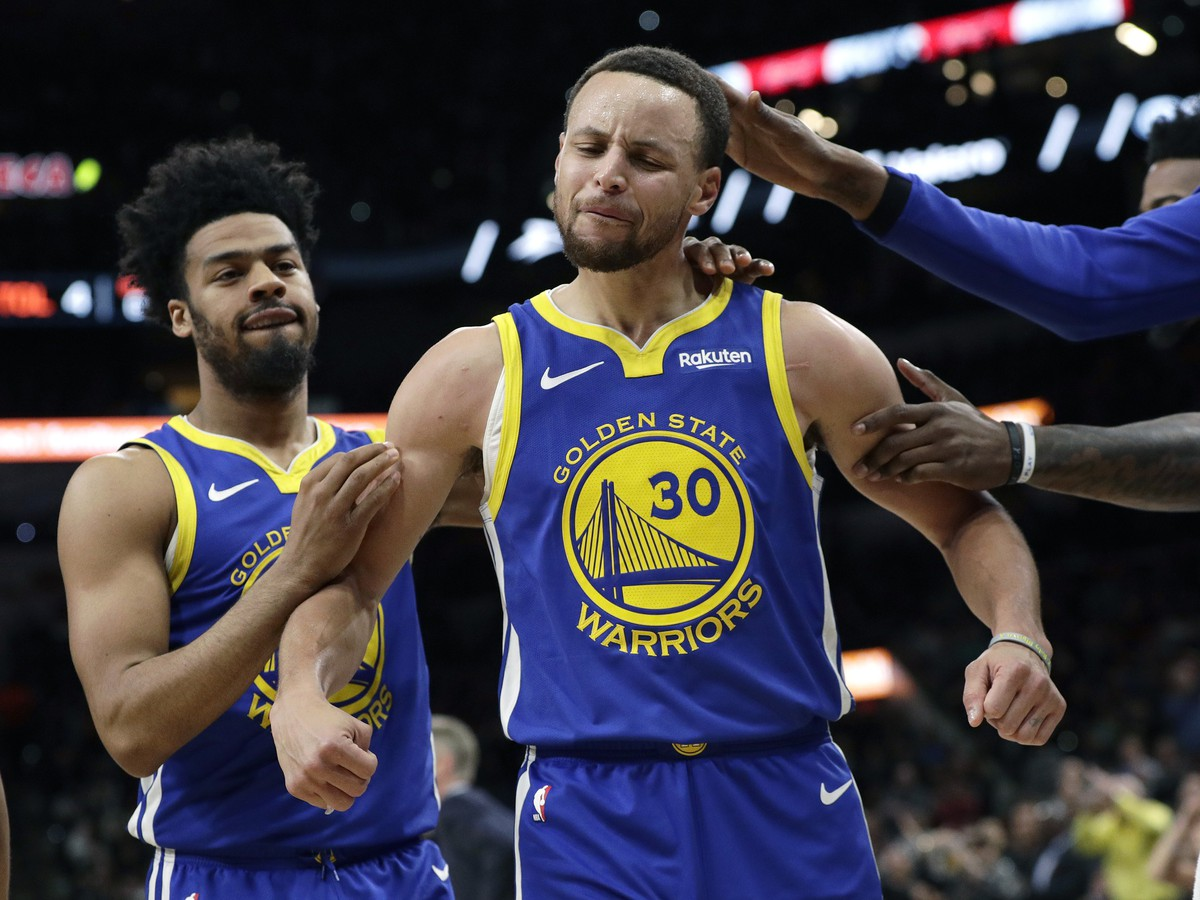 Na snímke hráč Warriors Stephen Curry