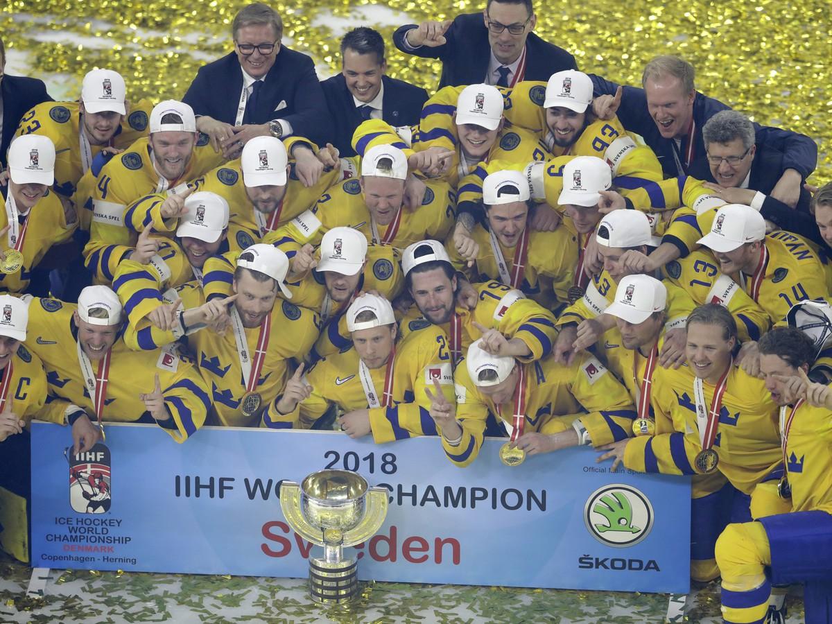 2de5afbddcd88 Hokejisti Švédska si vybojovali zlaté medaily na majstrovstvách sveta v  Dánsku.