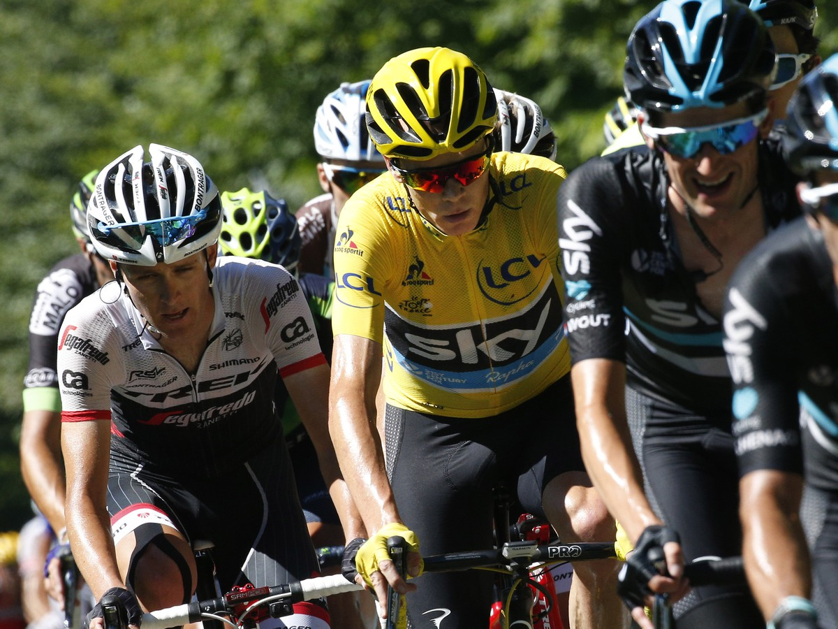 Líder Tour de France Chris Froome