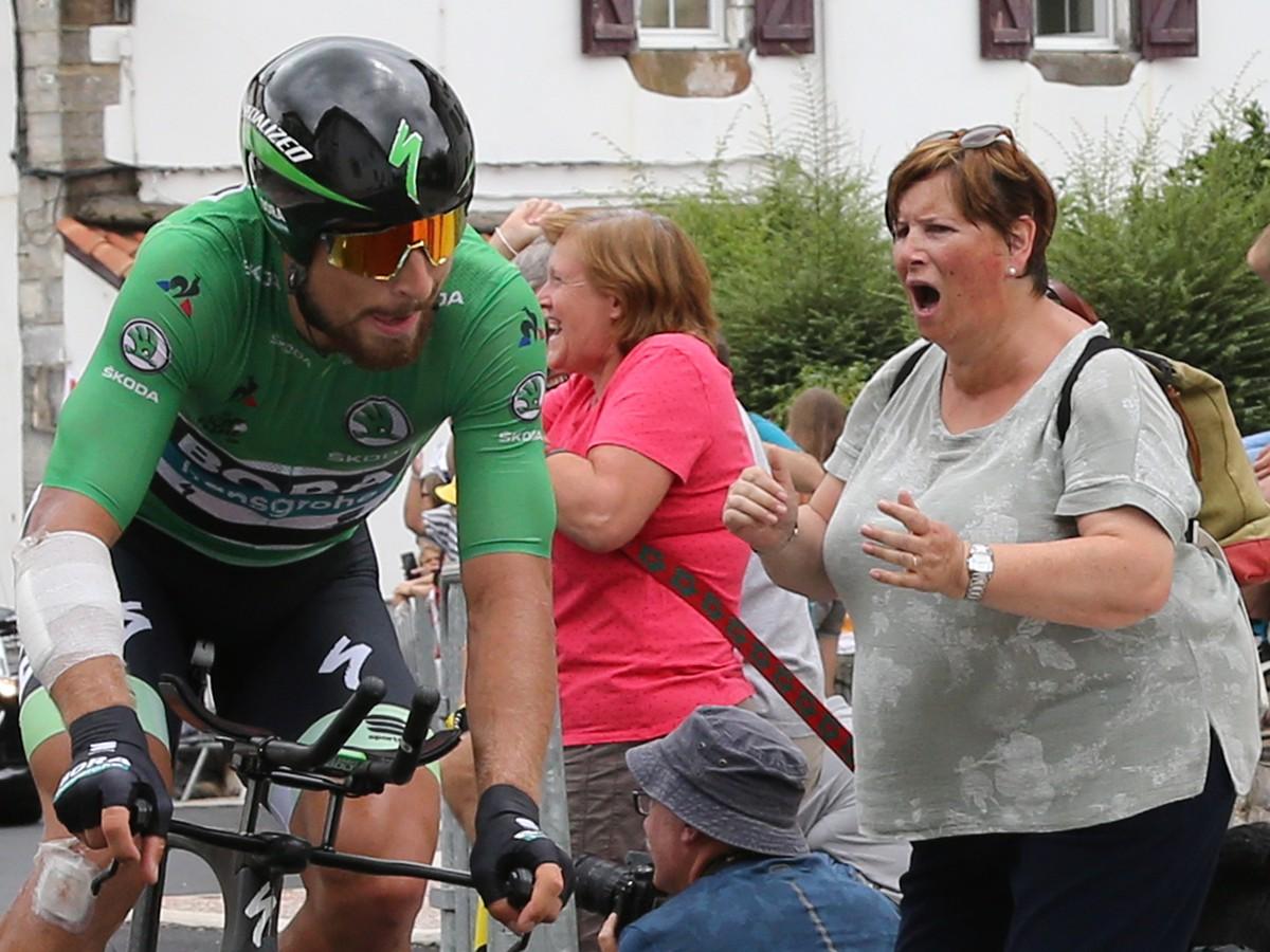 912498a27c4fd Slovenský cyklista Peter Sagan v zelenom drese lídra bodovacej súťaže