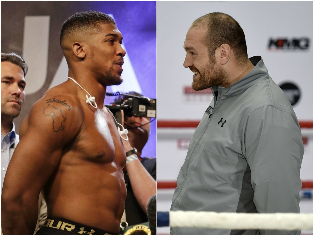 Anthony Joshua a Tyson Fury