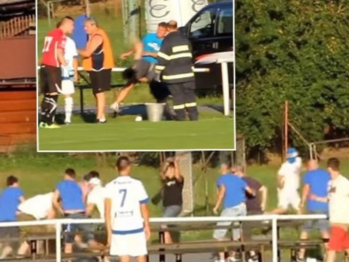 VIDEO Nechutnej scény z českého futbalu: Knokaut bezbrannej ženy pri besnení chuligánov!