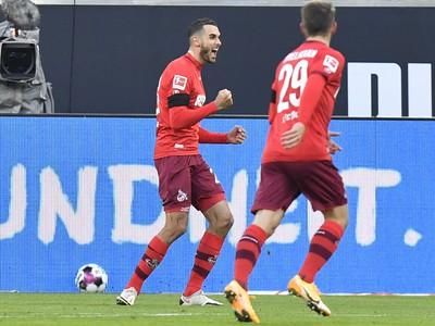 Hráči Kolína sa radujú z gólu