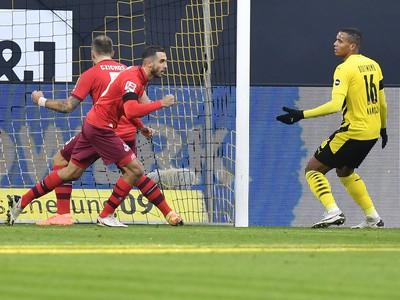 Ellyes Skhiri oslavuje gól