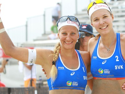 Slovenské reprezentantky v plážovom