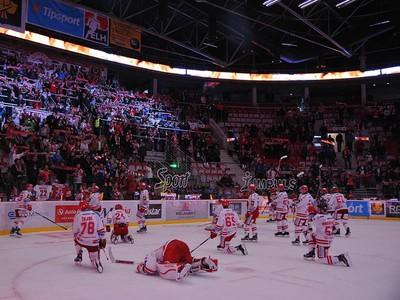 Záverečná ďakovačka hokejistov Třinca