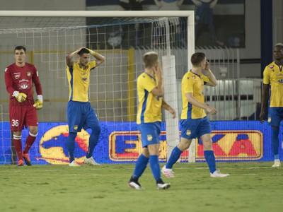 Futbalisti FC DAC 1904 Dunajská Streda po treťom inkasovanom góle