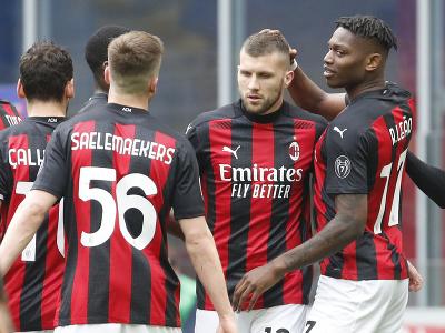 Radosť futbalistov AC Miláno