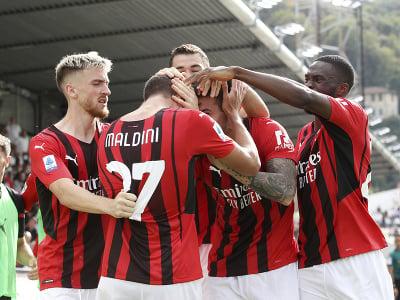 Daniel Maldini oslavuje svoj