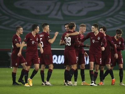 Radosť futbalistov pražskej Sparty