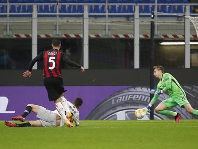 Diogo Dalot dáva tretí gól milánskeho AC
