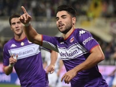 Riccardo Sottil oslavuje gól