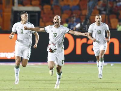 Radosť hráčov Alžírska