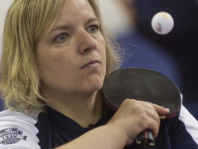 Na snímke paralympijská reprezentantka