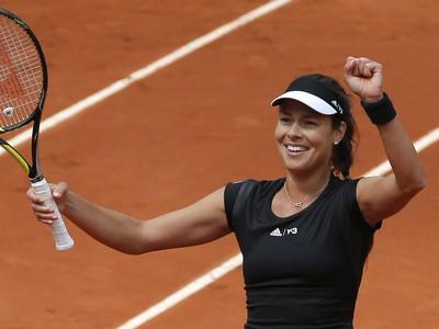 Ana Ivanovičová sa raduje z triumfu nad Makarovovou