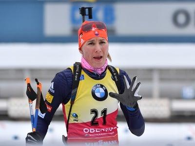 Anastasia Kuzminová počas šprintu