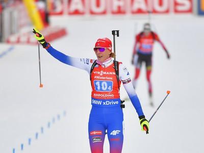 Na snímke slovenská biatlonistka Anastasia Kuzminová počas štafety