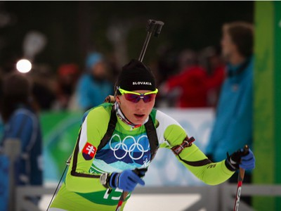 Anastasia Kuzminová počas štafety