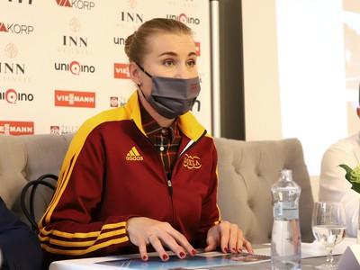 Olympijská víťazka v biatlone a ambasádorka kolieskovej dráhy na Králikoch Anastasia Kuzminová